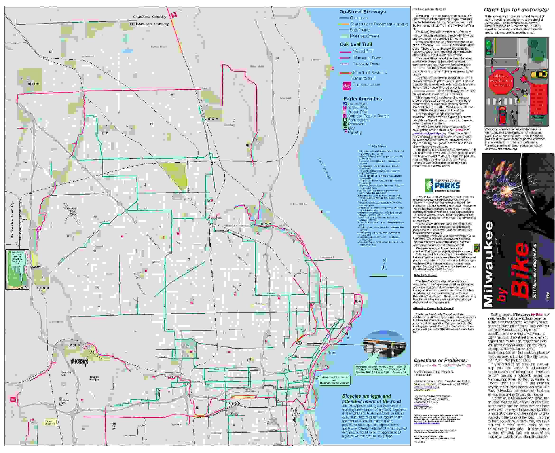Latest Update Milwaukee Bike Map Wisconsin Bike Fed